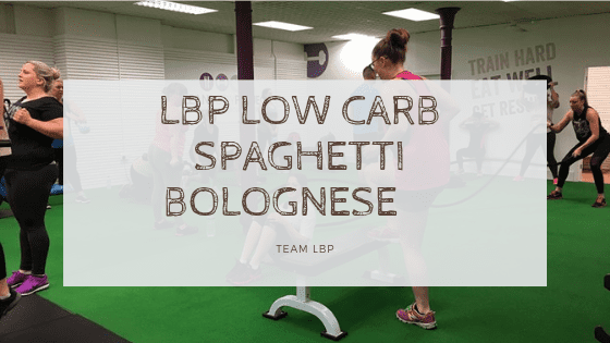 LBP Low Carb Spaghetti Bolognese